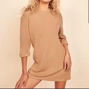 NEW Reformation Buff Channing Sweater Dress, XL